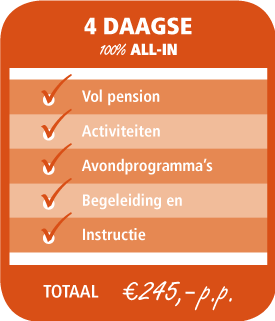 4daagse € 225 all-in